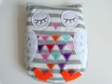 Cute & Cosy Grey Owl Silica Bead Heat Up Winter Pack Microwaveable Lavendar Oil